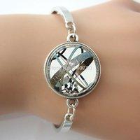 aqua globe - ASTRONOMICAL SUNDIAL Globe Astronomy Glass Aqua Bracelet Science bangle bracelet Hot selling