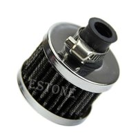 Wholesale mm Sliver Car Motor Cold Air Intake Filter Turbo Vent Crankcase Breather Sales order lt no track