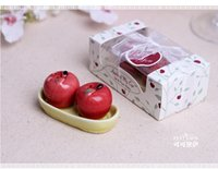 apple giveaway - wedding favor gift and giveaways for guest Ceramic Apple of my Eye Salt and Pepper Shaker baby shower party Keepsake