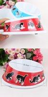 melamine dog bowl - 2015 New Style Pet bowl Cat melamine bowl Dog Supplies Dog Bowls Feeders cm