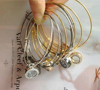 Wholesale New mm Floating Locket Bracelets Crystal Charms Glass Locket Bracelet Alex and Ani Locket Bracelet Bangles Gift