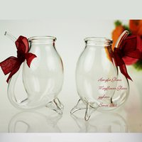 beer glas - Creative Small Wine Glass Cup My Bottle Crystal Mouse Cup Glass Jar Cup Beer Glas Wedding Champagne Glasses