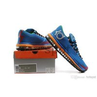 Cheap 2014 NEW Blue Color Basketball KD 6 Cheap various Basketball Best Shoes Fashions breathability maximum cushioning Sneaker Soccer Shoes