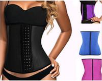 Wholesale Top body shapers steel bones Waist Trainer women Cincher Rubber Waist Training Corset underbust Slimming Belt