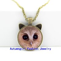 baby picture personalized - 2016 New Baby Scops Owl Necklace Owl Pendant Jewelry Personalized Picture Necklace CN