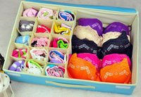 bamboo drawer dividers - 2015 HOT SALES Storage Boxes For Ties Socks Shorts Bra Underwear Divider Drawer Lidded Closet Home Organizer Container Rose Beig