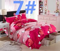 Wholesale 053007 bedding set cartoon kid child bed sheet sets Princess comforter cover twin single double queen king size