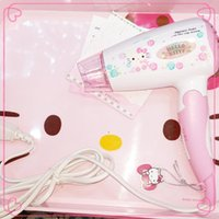 Wholesale 2014NEW Hello Kitty Hair Dryer W Hair Blow Dryer Professional Hair Salon Equipment Cosmetic Item size Brand New Pink styling tools Xmas