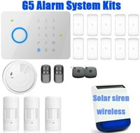 Wholesale GSM SMS Home Burglar Security Alarm System with RFID Tag access control CHUANGO G5 universal Mhz DWC