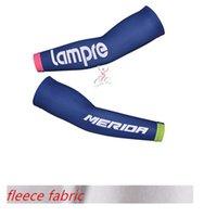 arm lampe - lampe blue Winter thermal Fleece cycling arm warmers bike bicycle arm sleeve oversleeve