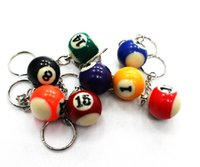 Wholesale Creative Billiards key chain ring beautiful small gifts snooker jewelry pendant puzzle toy Factory directly sales