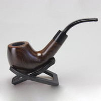 Cheap Wholesale-Smoking pipe briar cigarette holder Mahogany tobacco pipes 9mm filter cartridge + 9 fittings + Free shipping