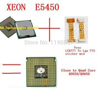 Wholesale Original For Intel Xeon E5450 Processor GHz MB MHz Quad Core Server CPU Close to q9650 pieces adaptor free