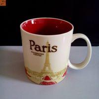 starbucks - 16oz Capacity Ceramic Starbucks City Mug Best Classical Coffee Mug Cup with Original Box Paris City