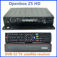 Wholesale Original DVB S2 Openbox Z5 Satellite Receiver Free Internet WIFI FULL HD P youtube G IPTV and DLNA function Set top Box