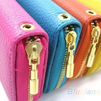 Wholesale New Womens PU Leather Wallet Coin Purse Phone Case for iPhone S B