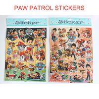Wholesale Paw Cartoon Sticker Patrol Stickers Marshall Rubble Chase Rocky Zuma Skye Ryder Stickers Toys