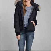 Wholesale Fashion Women s Winter Warm Down Coat Fur Hooded Jacket Navy Brand New size S M L