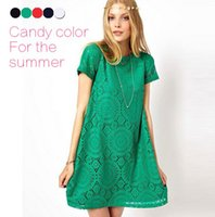 Wholesale Newest Fashion Women Clothes Ladies Dress Short Sleeve Female Summer dress O Neck Casual Sexy Lace maternity dress vestidos