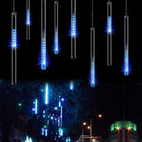 Wholesale Christmas Light set Snowfall Tube cm CM Tube Power Adapter Meteor Shower Rain Amazing LED Tube String Xmas Lights Decoration Tree