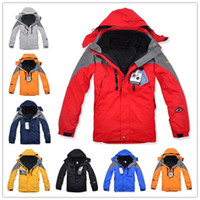 Wholesale Authentic Winter Ski Wear Jackets Outdoor Men s Twinset Jacket Waterproof Coat Removable Fleece inner Hooded Warm Jackets