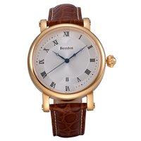 Wholesale Brand New Bestdon Top Fashion Men s Wristwatch Waterproof mechanical Japan Leather Band Movement watch BD7750G Gift