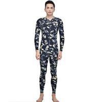Wholesale 2016 New arrival Camouflage Rash Guard Man wetsuit Zipper swimwear High quality One piece Diving Surfing bathing suit bodysuit