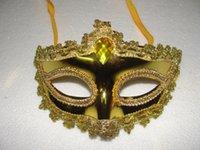 rhinestone mask - 2015 Women Sexy Hallowmas Venetian mask Bling Plating Large Rhinestone Lace Phnom Penh Mask