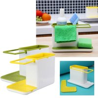 Aluminum Eco Friendly Sundries Durable Plastic Organizer Cabinet Kitchen Sink Caddy Storage Space Saver Drain multifunctional Kitchen Sponge Drying Racks