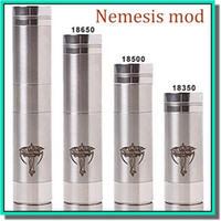 18350,18650 battery Nemesis black ego and 510 Hot selling stainless steel battery tube nemesis mod clone black nemesis mechanical mod with bottom locking button fit for eGo atomizer