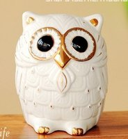 banking articles - FBH031606 Japanese owl piggy bank town curtilage fortune decorative furnishing articles Creative super money box