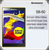 Wholesale Lenovo S8 WIFI Versions Tablet PC Inch Android Intel Atom Z3745 Quad Core GHz GB RAM GB ROM x1200 IPS Full HD MP GPS