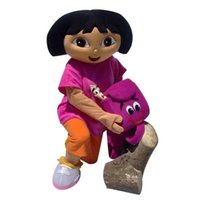 Wholesale Brand New Custom made Mascot Costume Dora mascot apparel character Dora dress