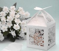 Wholesale 100pc Cubiod Floral Theme Cut out Favor Box Z206