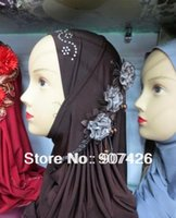 Wholesale EXW low price Muslim headscarf hot stamping flowers