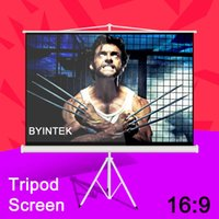 Wholesale Cheapest Factory Supply BYINTEK Best Quality Matte White inch Tripod Portable Projection Projector Screen