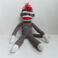 sock monkey - 2015 New Arrival High Quality cm Plush Toy Sock Monkey Cute Gifts Best Toy For Kids HT