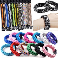 Wholesale 550 King Cobra Paracord Survival Bracelets Kit Military Emergency Colours Firefighter Outdoor Bracelets