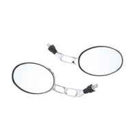 Wholesale 10mm Pair Universal Motorcycle Mirror Chrome Motorbike Rear View Mirrors Silver