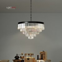 Wholesale modern odeon clear prism chandelier crystal glass fringe contemporary living room wind bell music chandelier