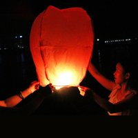sky lanterns - HOT Big Chinese KONGMING Lanterns Fly Sky Candle Lamp Flying Wishing Paper Light For Wish Party Wedding