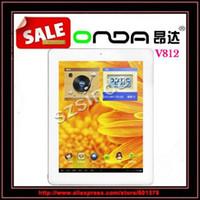 al por mayor onda de la tableta a31-envío al por mayor-libre Onda V812 androide 4.1 de la tableta de cuatro núcleos IP de Allwinner A31 2 GB de RAM 16GB 8.0inch tableta de doble cámara de PC / Anna