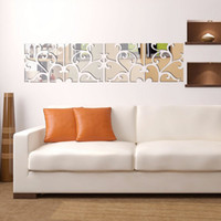 wall mirror - Pattern Mirror Mirror Affixed to the Marriage Bed Against the Wall Stickers Flower Stickers