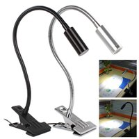 Wholesale 3W Flexible Metal Tubing Goose Neck USB LED Table Desk Light with Clip EGS_392