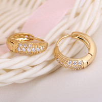 best hoop earings - Best Gift K Gold Simulated Diamond Hoop Earrings Golden Earings for Women Men New Men Women Wedding Jewelry order lt no track