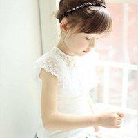 Wholesale Colors New Summer Girls shirt Children shirt Children kids clothes Tops tees Lace
