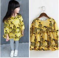 Wholesale NEW kids dress girl Floral children girls dresses floral print long sleeve atumn A7
