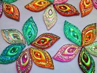 Wholesale Mixed colour sew on rhinestones resin stones Eye Navette shape crystal mm