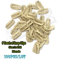 Wholesale 100pcs Hair Weave Clips mm Wig Clip Blonde Snap Hair Clips For Extensions