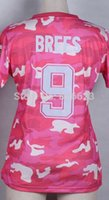 camo football jerseys - Factory Outlet Drew Brees Pink Camo Women Football Jersey Embroidery and Sewing Accept Mix Order